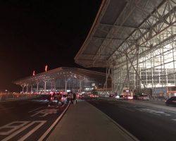 刚刚到达天津机场,天还是黑的