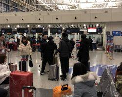 第二批的人已经到了,大家开始陆续集合,这次走的有点早,没到七点就到机场了,9点40多飞机,要提前两个小时才可以办理托运