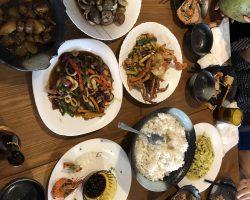 我们的午餐,他们家的味道不错,属于中国的口味