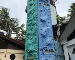 这里还有攀岩的设施,不过和摩天轮一样也从来没有看到人玩过
