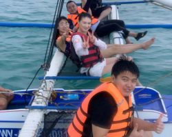 海上别人拍的照片