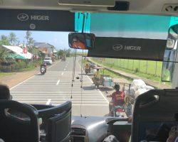 这个大巴预计要1个半小时到达卡力博机场