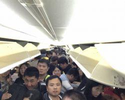 到达天津,都在收拾行李,准备下飞机