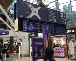 吉隆坡当地机场的购买区,很好逛,我们现在在C区,一会要坐小火车去A区