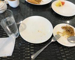 早餐,多么干净,是因为不好吃没什么东西....