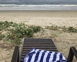 海边租来的浴巾